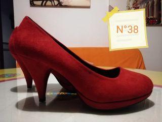 zapatos de tacon rojo