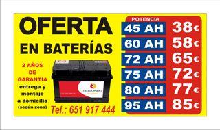 Bateria de coches a domicilio