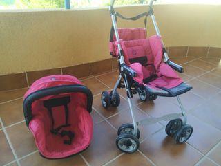 sillita carro muñecas matrix rosa
