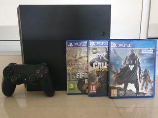 PS4 ULTIMATE EDITION 500GB + MANDO + 3 JUEGOS