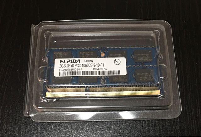 2 memorias RAM 2GB DDR3 PC3 10600S
