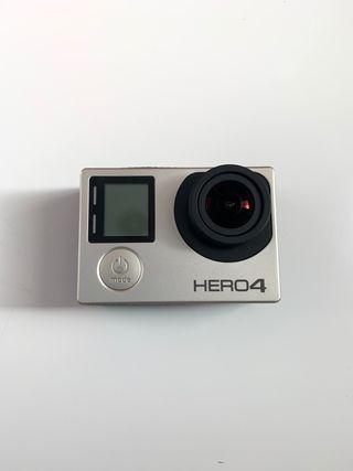 Gopro Hero 4 silver + baterias + carcasas