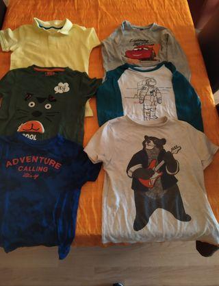 lote camisetas niño 6-7 años