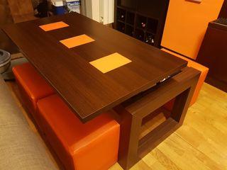 mesa centro elevable puf