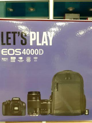 canon eos 4000d+efs 18-55+ef 75-300