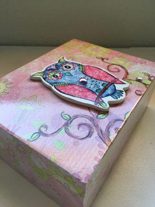 Caja de madera decoración