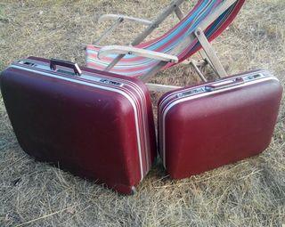 Juego de maletas vintage rígidas