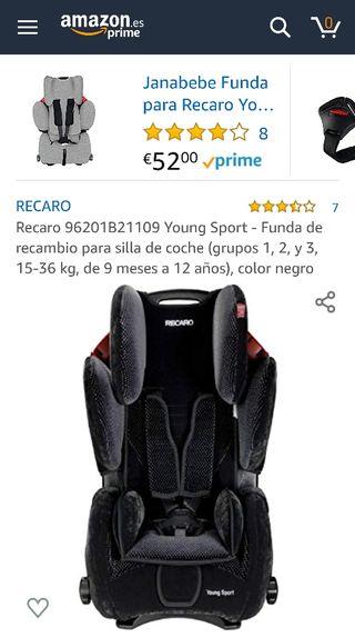 Funda recambio silla coche RECARO YOUNG SPORT