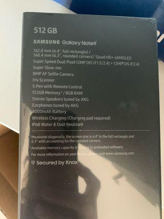 Telefono móvil Galaxy Note 9 Samsung