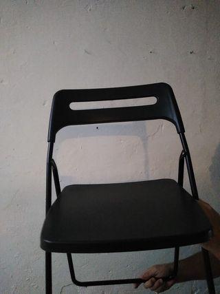 sillas plegables como nuevas