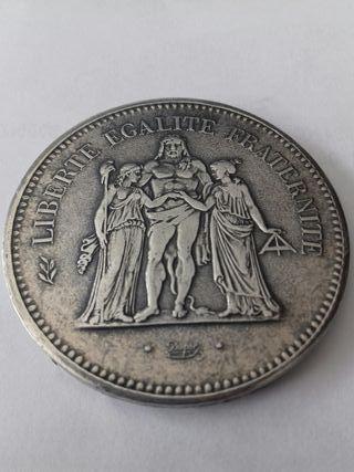 Moneda antigua de 50 francos franceses 1976