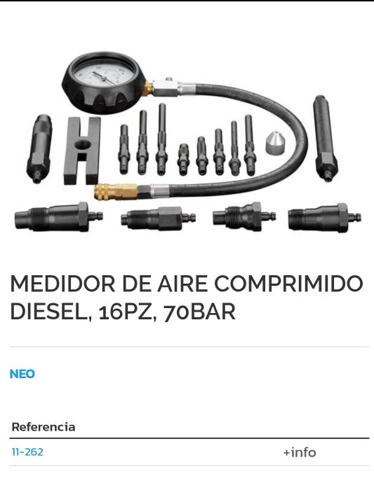 Medidor de aire comprimido diesel