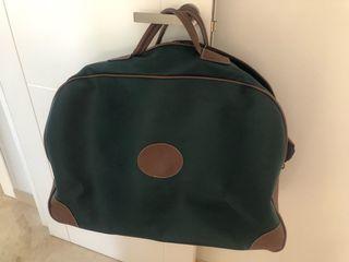 Bolsa de viaje verde y marron