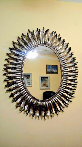 Espejo tipo sol, vintage.