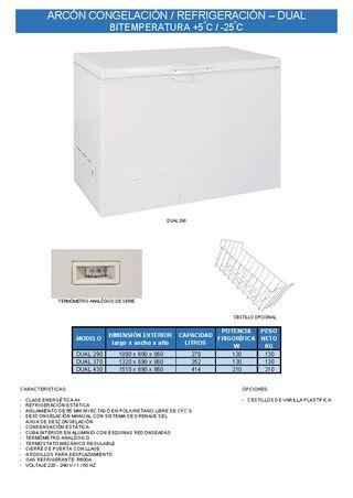 arcon congelacion refrigeracion dual bitemperatura
