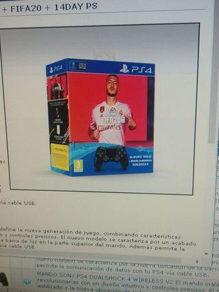 Fifa 20 +mando ps4 original+14dias de internet