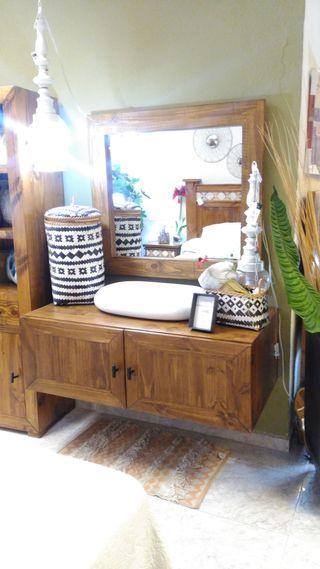 Mueble Baño madera maciza
