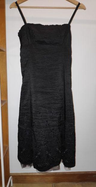 Vestido negro fiesta - Talla 38