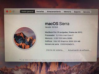 MacBook Pro 15 Pulgadas finales 2011