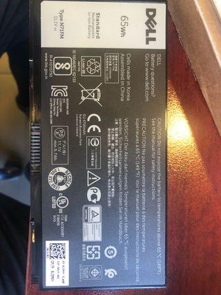 Bateria DELL nueva ordenador portátil