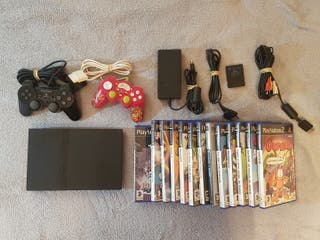Playstation 2 slim con 13 juegos Ps2
