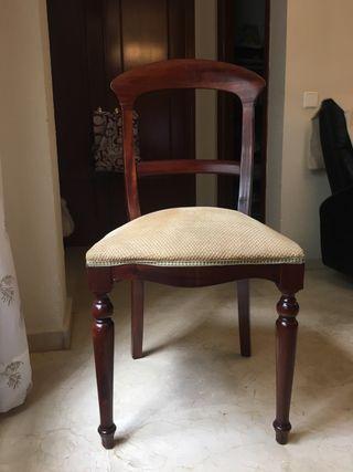 5 Sillas caoba . Precio por silla