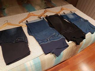 Lote pantalones de embarazada
