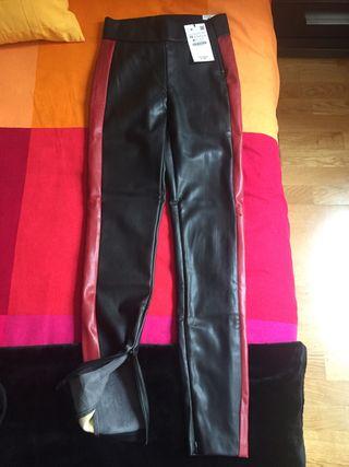 Pantalon de cuero(zara)