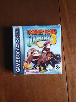 Monkey Kong Country 3 game boy advance colección