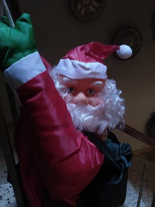 Papá Noel plástico para colgar