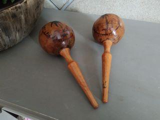 Maracas madera.