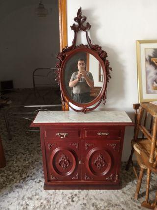 mueble entradita con espejo años 20