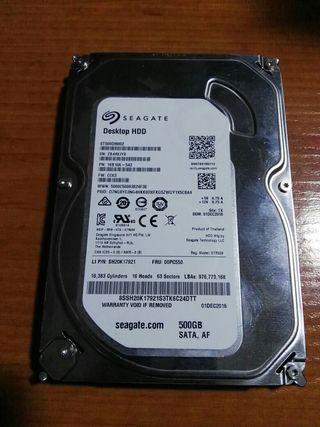 """disco duro 3.5"""" sata de 500 gb seagate"""