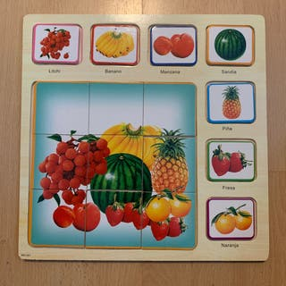 Juego puzzle piezas madera niño/a