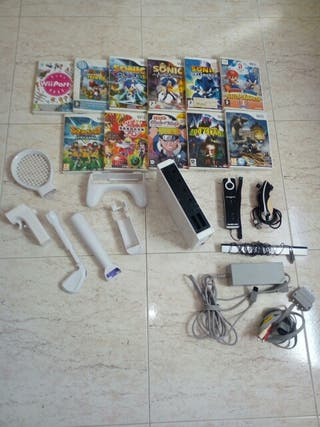 Consola Wii y accesorios
