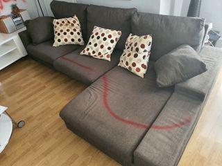 Sofa esquinero chaise longe marron