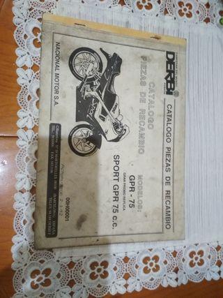 catálogo de recambio derbi gpr