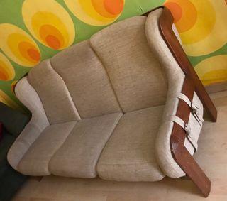 Tresillo, butaca, sillon, sofa GUILLEUMAS vintage
