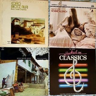 4 discos de vinilo lp (folk,clásica,jazz)