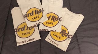 Lote camisetas hard rock café