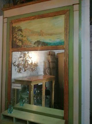 Espejo trumeau pintura