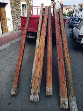 vigas madera tratadas rústicas