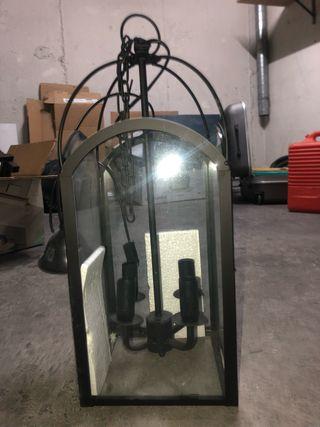 Farol techo forja / cristal