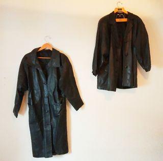 2 abrigos piel
