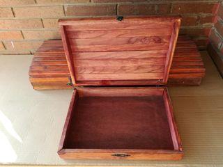 Cajas de madera maciza