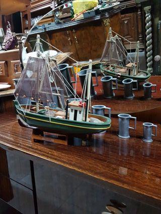 barco pesquero de madera