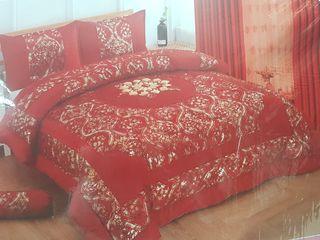 colchas con cortinas