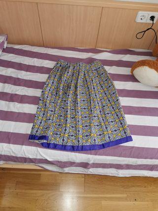 falda calliope estampada