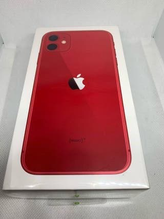 Iphone 11 rojo 64 gigas