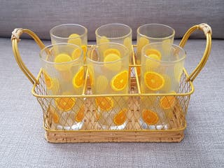 Set de Vasos y cesta